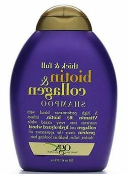 OGX Shampoo with Thick and Full Biotin and Collagen,  13 Flu