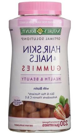 Nature's Bounty HAIR SKIN and NAILS 230 Gummies with Biotin