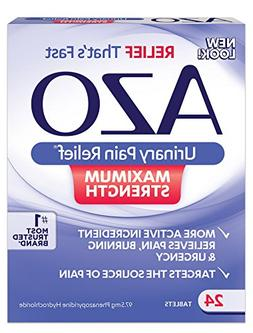 Azo Urinary Pain Relief Max Strength 24 count Tablets